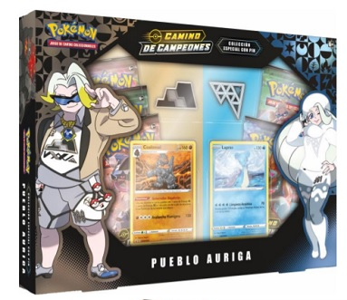 POKEMON PIN COLLECTION PUEBLO AURIGA ESPADA Y ESCUDO CAMINO DE CAMPEONES