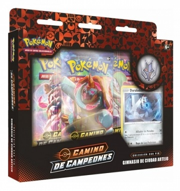 POKEMON PIN COLLECTION GIMNASIO ARTEJO ESPADA Y ESCUDO CAMINO DE CAMPEONES