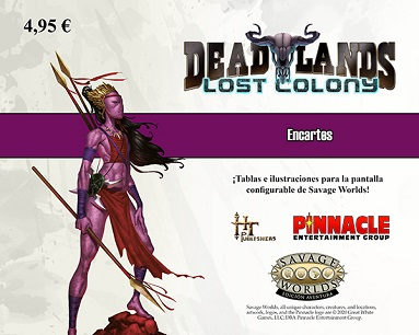 SAVAGE WORLDS: DEAD LANDS ENCARTE COLONIA PERDIDA