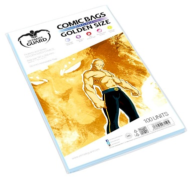 U.GUARD FUNDAS COMIC CIERRE REUTILIZABLE GOLDEN SIZE (100)