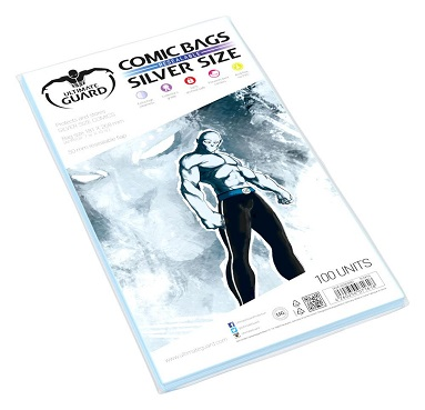 U.GUARD FUNDAS COMIC SILVER SIZE REUTILIZABLES (100)