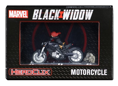 HEROCLIX: BLACK WIDOW MOVIE WITH MOTORCYCLE