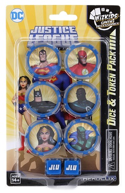 HEROCLIX: JUSTICE LEAGUE UNLIMITED DICE AND TOKEN PACK