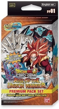 DRAGON BALL SUPER: RISE OF THE UNISON WARRIOR PREMIUM PACK SET 1