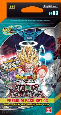 DRAGON BALL SUPER: UNISON WARRIOR SERIE 3 VICIOUS REJUVENATION PREMIUM PACK